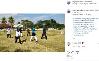 Penerimaan Anggota Baru Karate Kala Hitam DIY